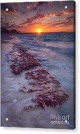 Grace Bay Sunset Acrylic Print