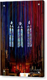 Grace Cathedral With Ribbons Acrylic Print by Dean Ferreira