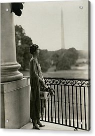 Grace Coolidge By The Washington Monument Acrylic Print