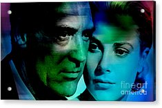 Grace Kelly And Cary Grant Acrylic Print by Marvin Blaine