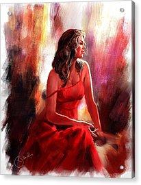 Grace Acrylic Print by Kiran Kumar