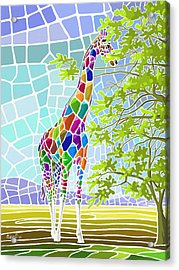 Acrylic Print featuring the painting Graceful by Anthony Mwangi