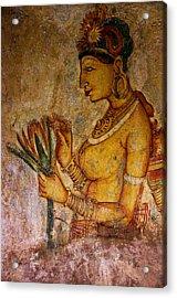 Graceful Apsara With Lotus. Sigiriya Cave Painting Acrylic Print