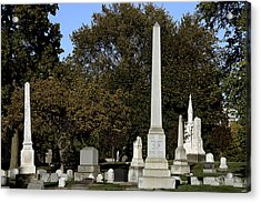 Graceland Chicago - The Cemetery Of Architects Acrylic Print by Christine Till