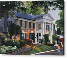 Graceland Home Of Elvis Acrylic Print by Cecilia Brendel
