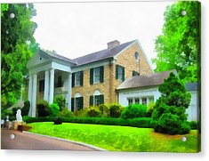 Graceland Mansion Acrylic Print by Dan Sproul