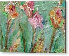 Acrylic Print featuring the painting Grace's Garden by Mary Wolf