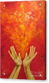 Acrylic Print featuring the painting Gracias by Judy Morris