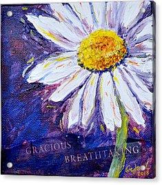 Gracious Daisy Acrylic Print by Lisa Fiedler Jaworski