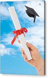 Graduation Scoll And Cap Acrylic Print by Amanda Elwell