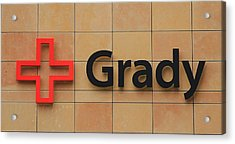 Grady Hospital Atlanta Georgia Art Acrylic Print