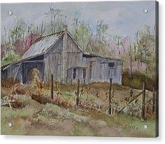 Grady's Barn Acrylic Print by Janet Felts