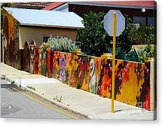 Graffiti   Acrylic Print by Bobby Mandal