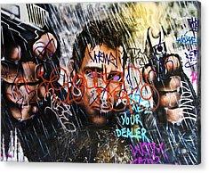 Graffiti 03 Acrylic Print by Svetlana Sewell