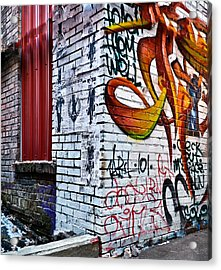 Graffiti Alley Acrylic Print by Greg Jackson