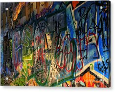 Graffiti Blues Acrylic Print