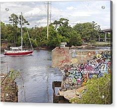 Graffiti Bridge Image Art Acrylic Print
