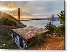 Graffiti By The Golden Gate Bridge Acrylic Print