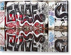 Graffiti Acrylic Print by Carol Leigh