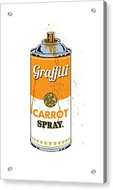 Graffiti Carrot Spray Can Acrylic Print