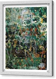 Graffiti Cat Acrylic Print by Eve Riser Roberts
