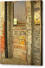 Graffiti Door - Ground Zero Blues Club Ms Delta Acrylic Print