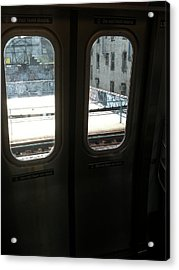 Graffiti From Subway Train Acrylic Print by Mieczyslaw Rudek