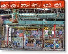 Graffiti Gallery Acrylic Print by David Birchall