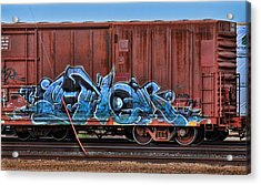 Graffiti - Graphical Blue Acrylic Print