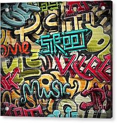 Graffiti Grunge Texture. Eps 10 Acrylic Print