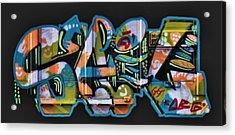 Graffiti - Happy/sad Acrylic Print