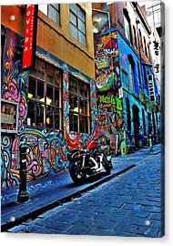 Graffiti Harley Shoes - Melbourne - Australia Acrylic Print