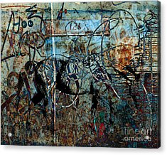 Graffiti Horse Blues Acrylic Print by Judy Wood