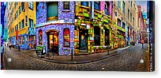 Graffiti Lane   Acrylic Print by Az Jackson