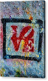 Graffiti Love Acrylic Print