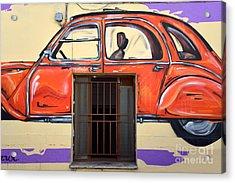 Graffiti On A Wall Acrylic Print by George Atsametakis