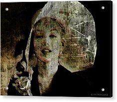 Graffiti On Marilyn Acrylic Print by Kim Gauge