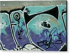 Graffiti South France Acrylic Print by Phoenix De Vries