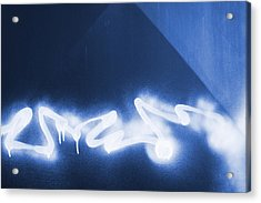 Graffiti Spray Blue Acrylic Print
