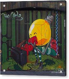 Graffiti Stokes Croft Acrylic Print by Brian Roscorla
