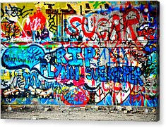 Graffiti Street Acrylic Print by Bill Cannon