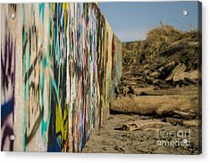 Graffiti Wall Acrylic Print by Arlene Sundby