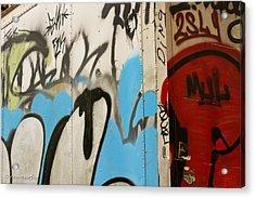 Acrylic Print featuring the photograph Graffiti Writing Nyc #2 by Ann Murphy