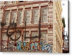 Acrylic Print featuring the photograph Graffiti Writing Nyc by Ann Murphy