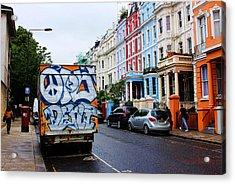 Grafitti Truck Acrylic Print by Nicky Jameson