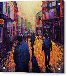 Grafton Street Dublin Acrylic Print by John  Nolan