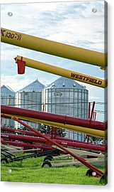 Grain Augers And Silos Acrylic Print by Jim West