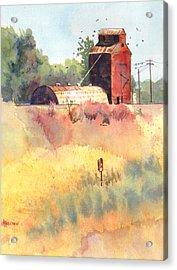 Grain Elevator Acrylic Print by Kris Parins