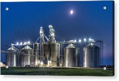 Grain Processing Plant Acrylic Print