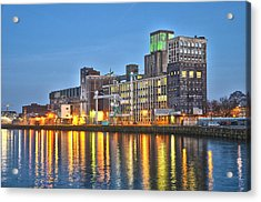 Grain Silo Rotterdam Acrylic Print